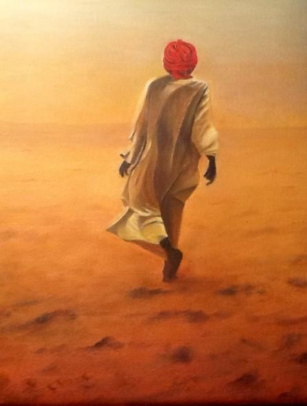 """""""Camina en soledad"""" by Charo Martin Mejias en artistasdelatierra.com"""